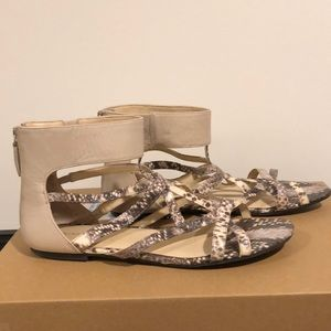 Nine West Faux Snake Skin Sandals